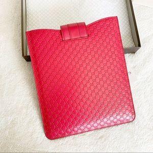 NWT Authentic Gucci MicroGuccissima Ipad Case